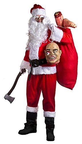Claus Zombie Kostüm Santa - BÖSER WEIHNACHTSMANN KOSTÜM FÜR HALLOWEEN ODER KARNEVAL = ERHALTBAR IN VERSCHIEDENEN GRÖSSEN = 18 TEILIGE GRUSELIGE SANTA CLAUS VERKLEIDUNG= VON ILOVEFANCYDRESS®=ERHALTBAR MIT 2 ABGEHACKTEN ARMEN ODER 1 BEIN +1 ARM = DAS KOSTÜM KANN AN WEIHNACHTEN ODER FASCHING UND KARNEVAL VERWENDET WERDEN=ARM+BEIN-SMALL