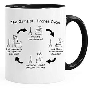 Acen Merchandise Game of Thrones Inspired 'Game of Thrones Cycle' - Fun Keramik Tasse Kaffee Tee Becher –Perfekt Valentines/Ostern/Sommer/Weihnachten/Geburtstag/Jahrestag Geschenk