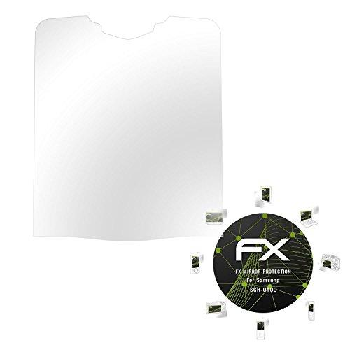 Samsung SGH-U100 Spiegelfolie - atFoliX FX-Mirror Displayschutz Folie mit Spiegeleffekt