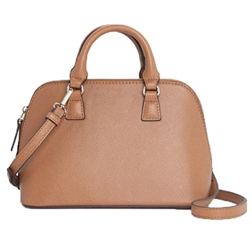 WU Zhi Ladies PU Guaina Borsa A Tracolla Borsa Messenger Bag Cross Pattern Grande Capacità Brown
