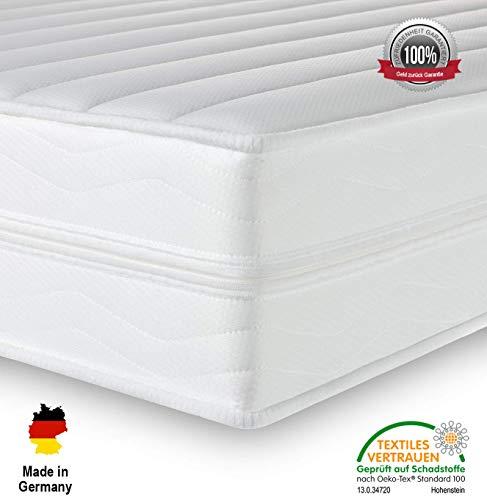 Träume-Nacht AquaFlex 16cm Wellness Kaltschaummatratze - 7-Zonen Matratze - Härtegrad H2 & H3 -...