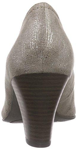 Jana 22406, Chaussures à talons - Avant du pieds couvert femme Gris - Grau (TAUPE MET STRU 393)