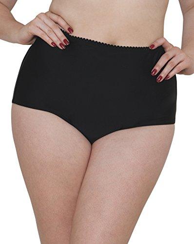 Curvy Kate Damen Bikinihose Jetty High Waist Brief, Schwarz, 38 (Kate Slip)