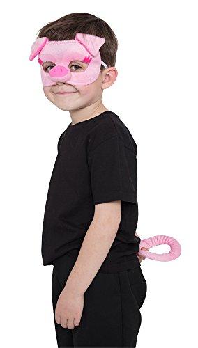 Bristol Novelty Novelty-DS194 DS194 Kit d'Accessoires de Cochon avec Masque et Queue pour Enfant, Rose, Taille Unique