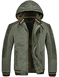 Herren Winter Dicke Warm mit Kapuze Militär Freizeit Mantel Jacke Parka  Wintermantel Winterjacke Mens Outdoor… 0941ac0312