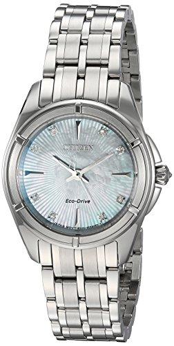 Citizen 'Signature' quarzo in acciaio INOX orologio da donna, colore: tonalità argentata (Model: EM0350–58D)