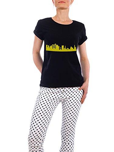 """Design T-Shirt Frauen Earth Positive """"Boston 06 Skyline Spring-Green Print monochrome"""" - stylisches Shirt Abstrakt Städte Städte / Boston Architektur von 44spaces Schwarz"""