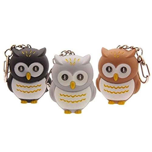 Easter novelty gifts amazon led owl key ring with sounds light fun gift keyring cute novelty chain hooting blue negle