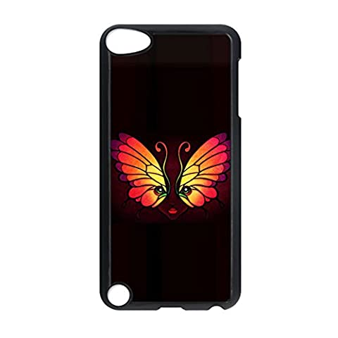 Phone Shell With Butterfly 2 Shatterproof For Apple Touch 5 Rigid Plastic For Girls