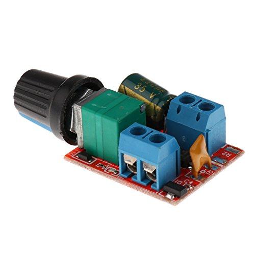Sharplace Mini Spannungsregler Einstellbare Steuerpult LED-Dimmer Drehzahlregler Spannungskonstantlicht (Miniatur-dc-motor)