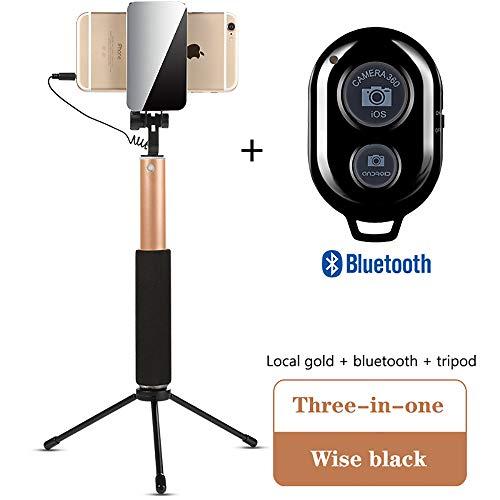 luetooth Selfie-Stick Stativ, mit Fernbedienung kompatibel mit Samsung Galaxis iPhone bis zu 3,5-6
