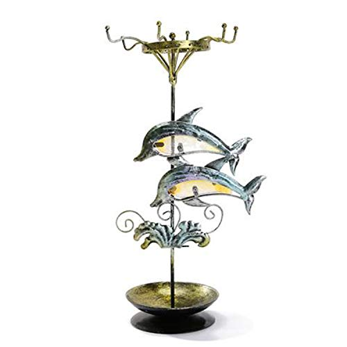 YANGLAN Dolphin Jewelry Display Stand, Home Ohrringe, Halskette Rack, Schmiedeeisen Lagerregal, Kreative Dekoration Rack