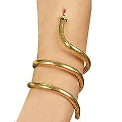 Idea Regalo - Widmann - Bracciale Dorato a Forma di Serpente, Modellabile