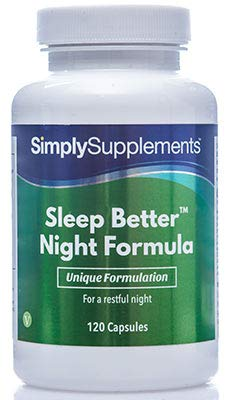 Pastillas para dormir - Con Lavanda y Manzanilla - 120 Cápsulas - 2 Meses de suministro - Simply Supplements