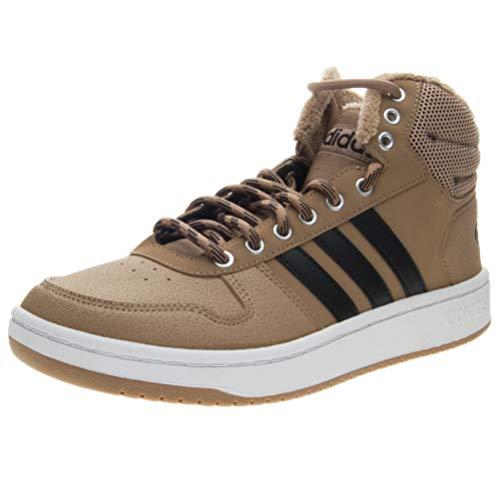 adidas Hoops 2.0 Mid, Herren Basketballschuhe, Braun (Cardboard/Cblack/Ftwwht), 44 EU (9.5 UK)