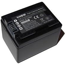 vhbw Li-Ion batería 2400mAh (3.6V) para videocámara cámara de video Canon Legria HF R66, HF R68, HF R606 por BP-727