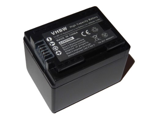 Galleria fotografica vhbw Li-Ion batteria 2400mAh (3.6V) con infochip per telecamera videocamera camcorder Canon Legria HF R806, HF R86, HF R88 come BP-727.