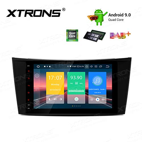"XTRONS 8"" Android 9.0 Quad Core Autoradio 2GB RAM 16GB ROM mit Touchscreen Multimedia Player Plug und Play Autostereo unterstützt 4G WiFi Bluetooth DAB & OBD2 TPMS FÜR Mercedes-Benz W211"