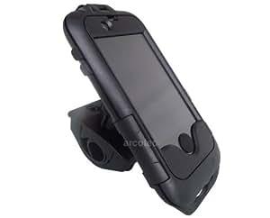 Attec Fahrradhalterung, Lenkradhalterung, Handy Halter für Ihr Bike - passgenau für Ihr Apple iPhone 4 & 4S - wasserdicht, Querformat & Hochformat