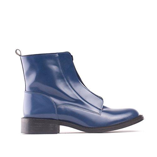 NAE Zipme Blau - Damen Vegan Stiefel - 2