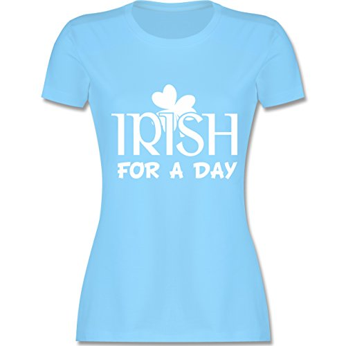 St. Patricks Day - Irish for A Day St Patricks Day - S - Hellblau - L191 - Damen Tshirt und Frauen T-Shirt (Womens Day St Kostüme Patricks)