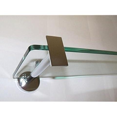 Generic 50cm plateado cromo baño Lavabo Espejo resistente endurecido cristal mueble estantería < 1& 2930*