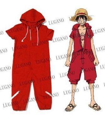 ONE PIECE cosplay costume One Piece Monkey D Luffy, Monkey D Luffy coverall costume size L (japan (Monkey D Luffy Kostüm)