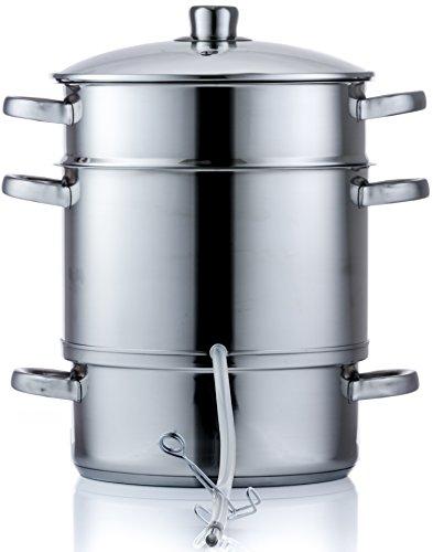 Style'n Cook Dampfentsafter Edelstahl Induktion 8 Liter