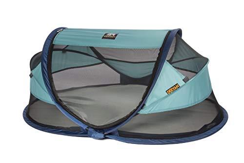 Deryan Travel-cot Baby Luxe Reisebettzelt inklusive Schlafmatte, selbstaufblasbarer Luftmatratze und Tragetasche mit Pop-Up innerhalb 2 Sekunden aufgebaut, ocean - 2