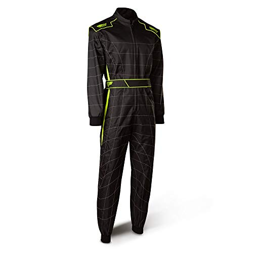 Speed Racewear Cordura Atlanta CS-2 Overall - Hochwertiger Kartoverall - schwarz/neongelb (S) - Speed Overall