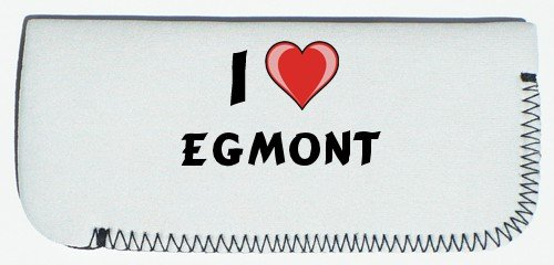 Glasses Case with I Love Egmont (first name/surname/nickname)