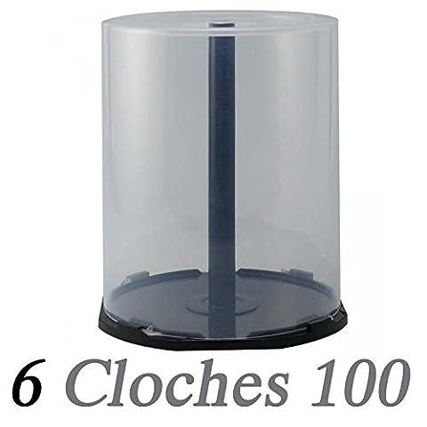 6 Cloches vides (cakebox) pour 100 CD/DVD