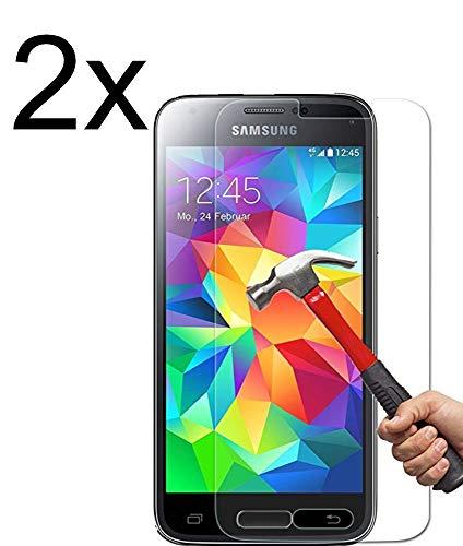 Vada-Tec | 2X bruchsicheres Panzerglas für Samsung Galaxy S5 Mini Next Generation| Schutzfolie aus 9H Echt Glas
