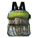 TIZORAX World Turtle trägt die Elefanten, die die Erde auf den Rücken Tragen, Schulrucksack, College-Tasche, Tagesrucksack, Büchertaschen für Teenager, Jungen und Mädchen