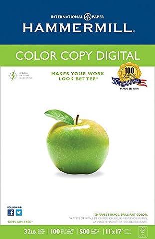 Hammermill Paper, Color Copy Digital, 32lb, 11x17, Ledger, 100 Bright,