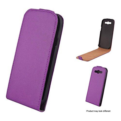 Mobility Gear MG-CASE-KF-HTCV Flip Case Schutzhülle für HTC One, Magnetverschluss, Violett