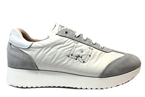 Liu Jo Girl B23023A Bianco e Blu Sneakers Scarpe Donna Calzature Comode Shoes Bianco
