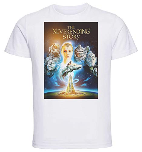 Instabuy T-Shirt Unisex - White Shirt - Playbill Film - Neverending Story Size Small