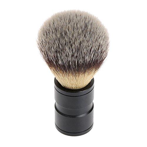 1Pc Dachshaar Rasierpinsel Silvertip Edelstahl Metallhandgriff Barber-Tool