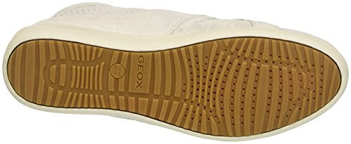 Geox D Myria B, Scarpe da Ginnastica Alte Donna Bianco (OFF WHITEC1002)