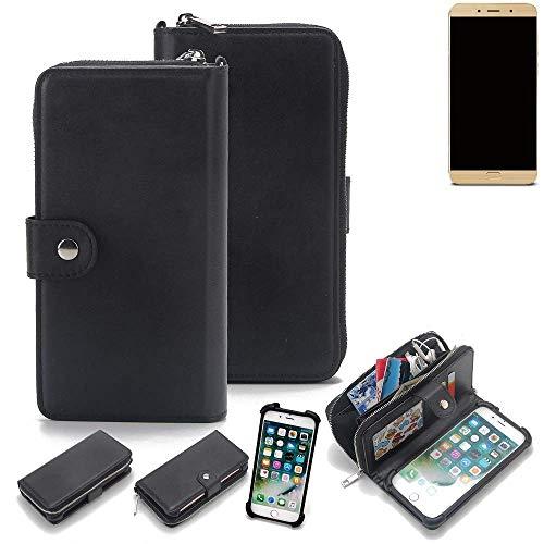 K-S-Trade 2in1 Handyhülle für Allview X4 Soul Lite Schutzhülle & Portemonnee Schutzhülle Tasche Handytasche Case Etui Geldbörse Wallet Bookstyle Hülle schwarz (1x)