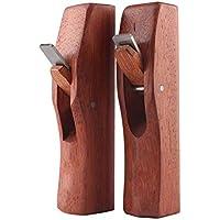 2 Stück Mini Holzhobel,Holzbearbeitung Kleiner Handhobel Handwerker Tragbare Hobelmaschine Flache Kleines Hölzernes Bank-Flugzeug Woodcraft-Handwerkzeug Glättende Oberfläche Mit Hobelmesser