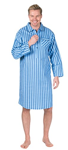ae3ebc26fd2735 Mens Champion Quality Nightshirt Brushed Cotton Loungewear (Single or 3  Pack) (XL (