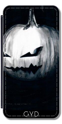 Leder Flip Case Tasche Hülle für Huawei P8 Lite (ALE-L21) - Schritt Halten Mit Halloween by zombierust