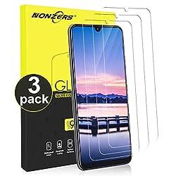 NONZERS Panzerglas Schutzfolie für Samsung Galaxy A50/A30/M30, [3 Stück] 9H Härte Panzerglasfolie Anti- Kratzer, Bläschenfrei, HD-Klar, Einfache Installation Displayschutzfolie für A50/A30/M30