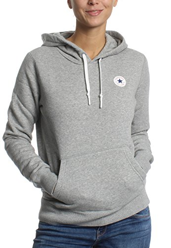 Converse Sweater Damen CORE HOODIE 10004543 Hellgrau 035, Größe:S