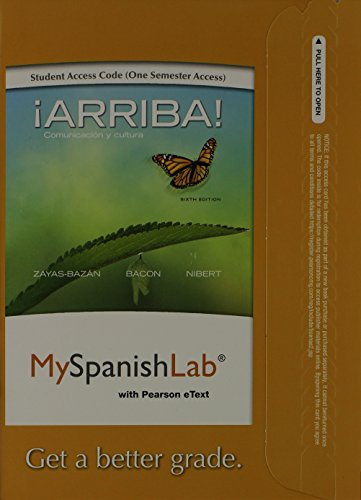 MySpanishLab with Pearson eText -- Access Card -- for Arriba: Comunicacion y cultura (one semester access)