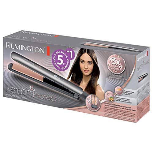 Remington Keratin Therapy Pro S8590 - Plancha de Pelo Profesional, Cerámica, Digital, Keratina, Aceite Almendras, Color Bronce