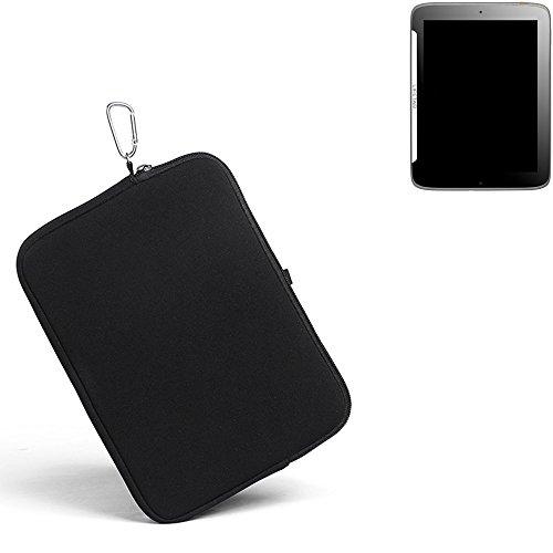 K-S-Trade® für Medion Lifetab S9512 Neopren Hülle Schutzhülle Neoprenhülle Tablethülle Tabletcase Tablet Schutz Gürtel Tasche Case Sleeve Business schwarz für Medion Lifetab S9512