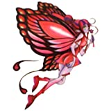Watertight and sweat of the red butterfly fairy angel tattoo stickers